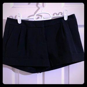 Express Black Cuffed Shorts